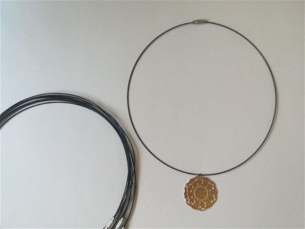 Baza colier fix, negru - 1 buc