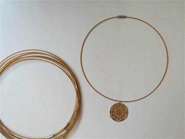 Baza colier fix, auriu - 1 buc