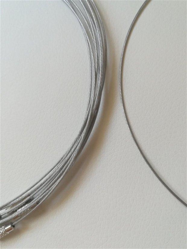 Baza colier fix, argintiu - 1 buc