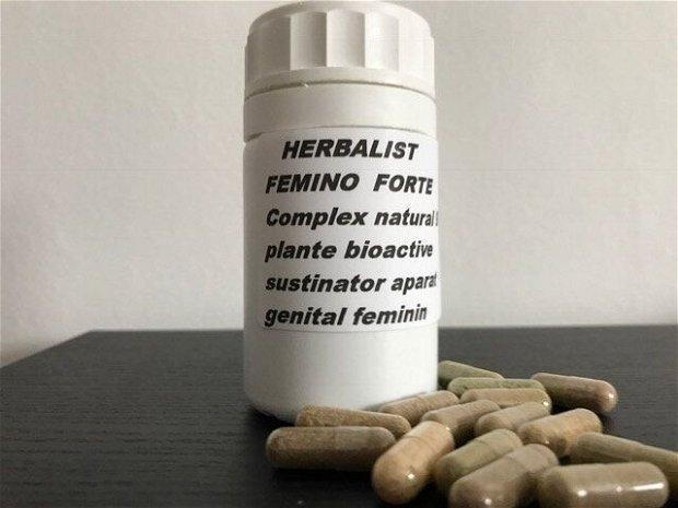 HERBALIST FEMINO FORTE  Complex natural 9 plante bioactive pentru sustinerea aparatului genital feminin