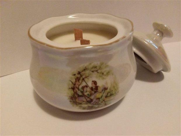 Lumanare de soia turnata in zaharnita