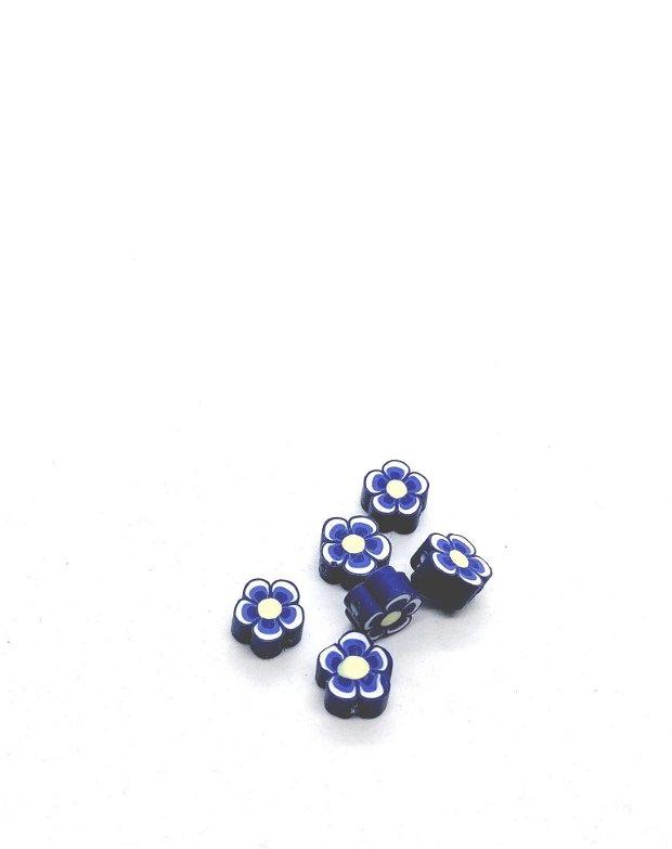 Distantier floare clei / rasina polimerica 10mm * indigo