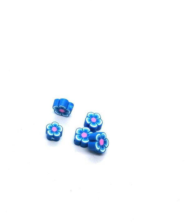 Distantier floare clei / rasina polimerica 10mm * albastru
