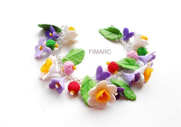 Narcise si flori de Liliac - bratara