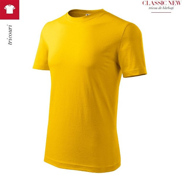 Tricou Galben pentru barbati, Classic New
