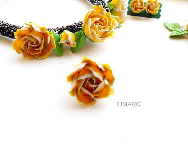 Trandafir in culorile anului 2021 - inel reglabil