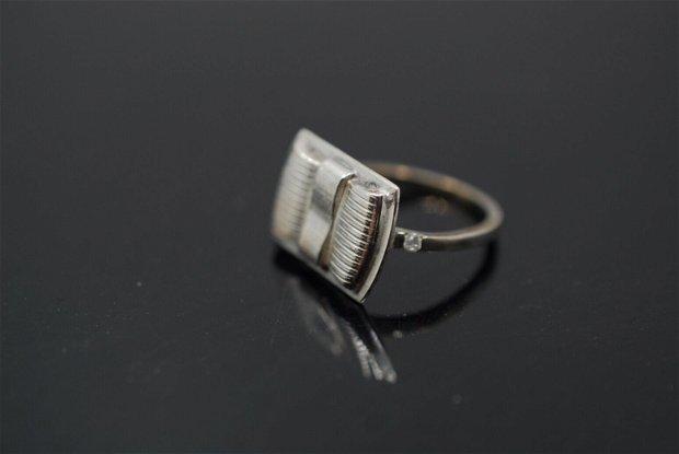 Inel argint 925, cu fundă, inel rotund, inel marime mica, inel minimalist
