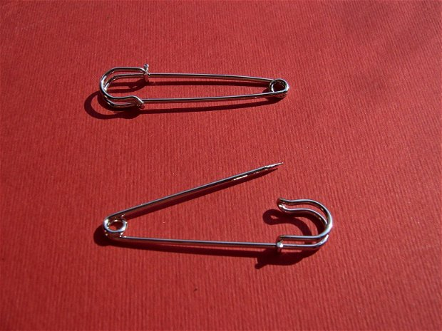 Baza brosa - ac brosa argintiu satinat aprox 1,4x5 cm