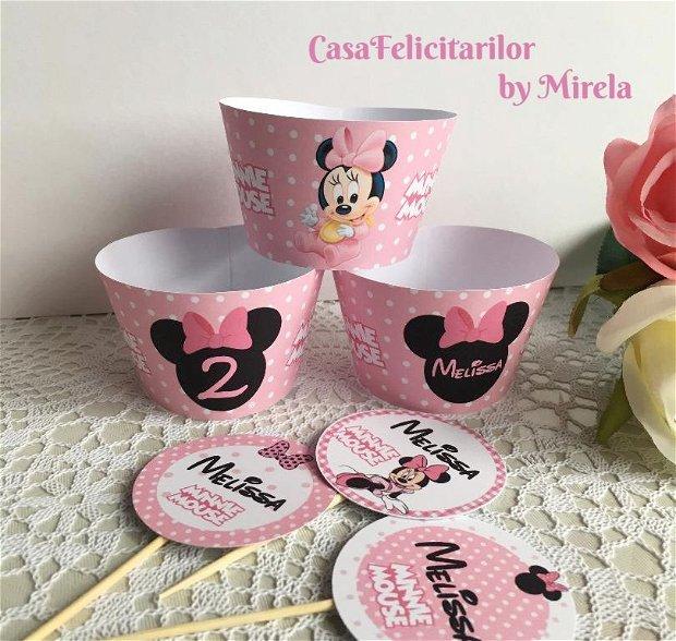 Invelitori briose baby Minnie mouse personalizate