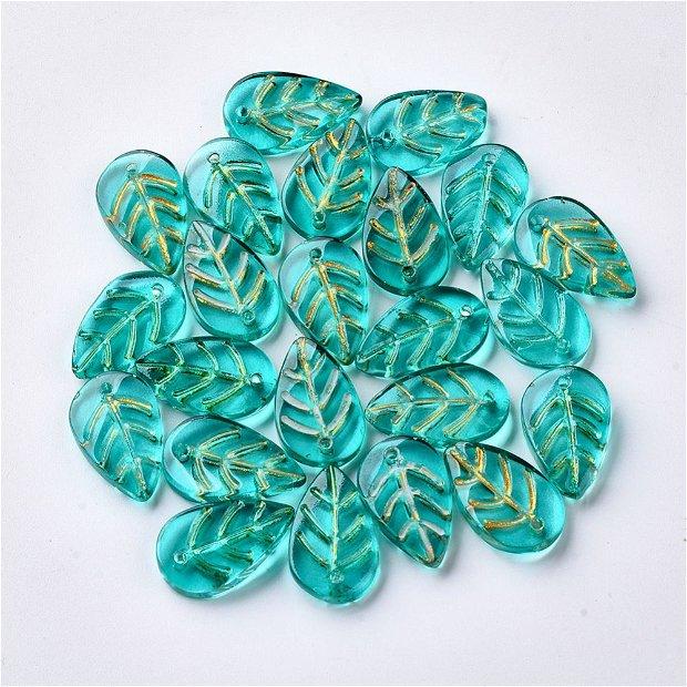 Margele sticla in forma de frunze