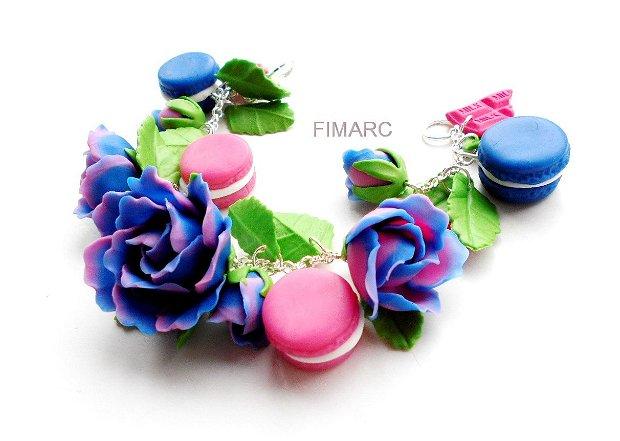 Trandafiri,macarons si ciocolata - bratara