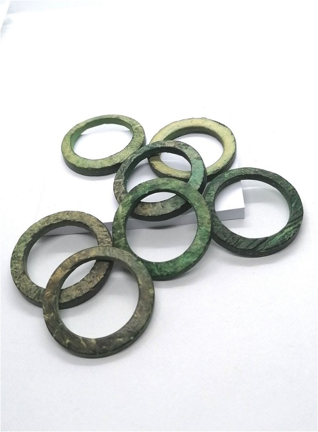 Link conector cerc inel lemn cocos vopsit 35mm * verde