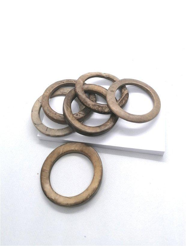 Link conector cerc inel lemn cocos vopsit 35mm * bej natur