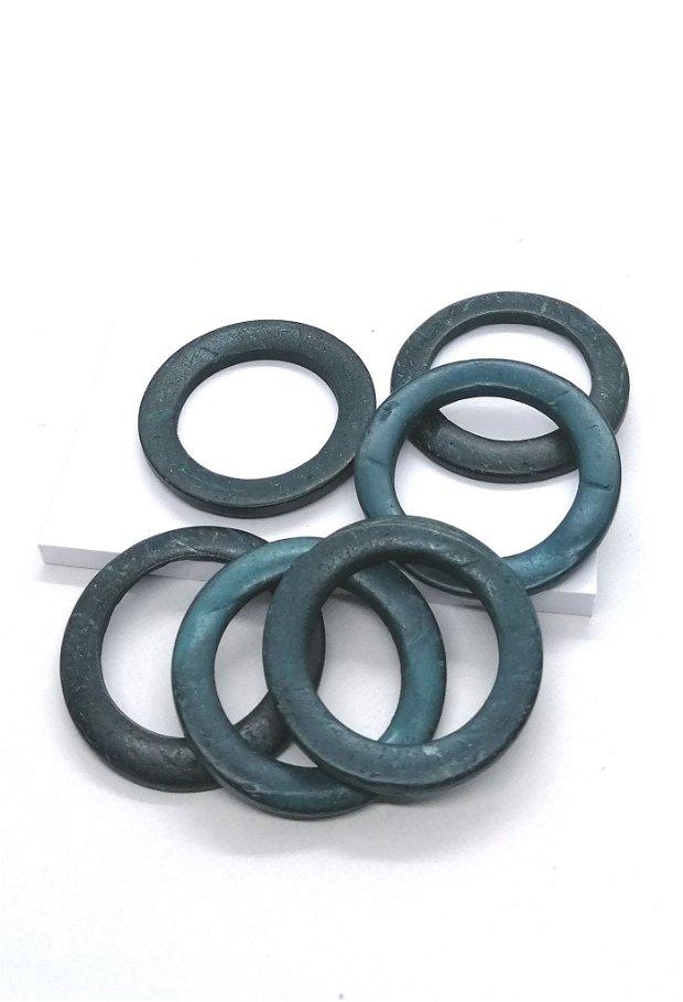 Link conector cerc inel lemn cocos vopsit 35mm * albastru