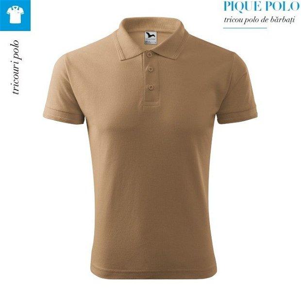 Tricou polo Bej pentru barbati PIQUE POLO, disponibil in marimi de la S la 3XL