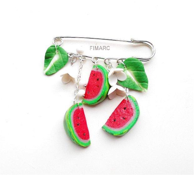 ''Felii de pepene''-  brosa pentru articole tricotate:pluovere,esarfe,..etc