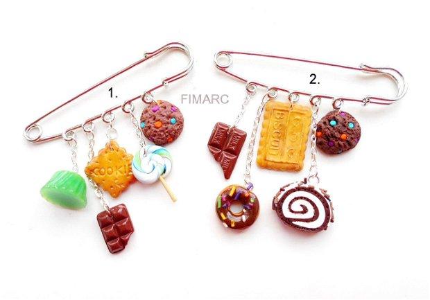 Dulciuri - brosa pentru articole tricotate:pluovere,esarfe,..etc