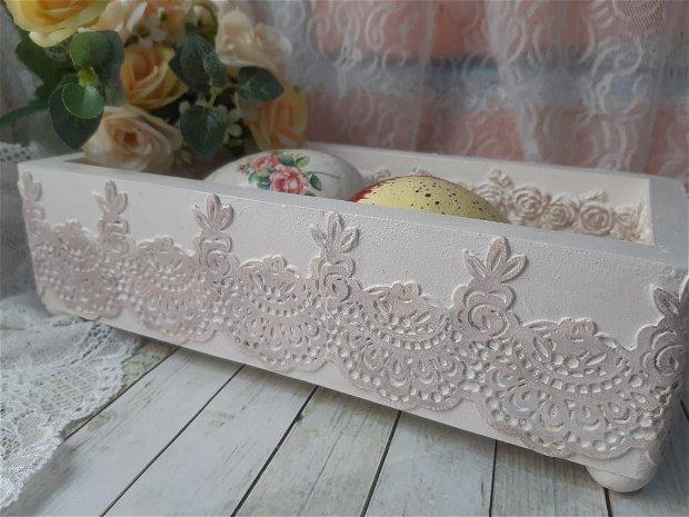 Cosulet/tavita din lemn, decorat manual