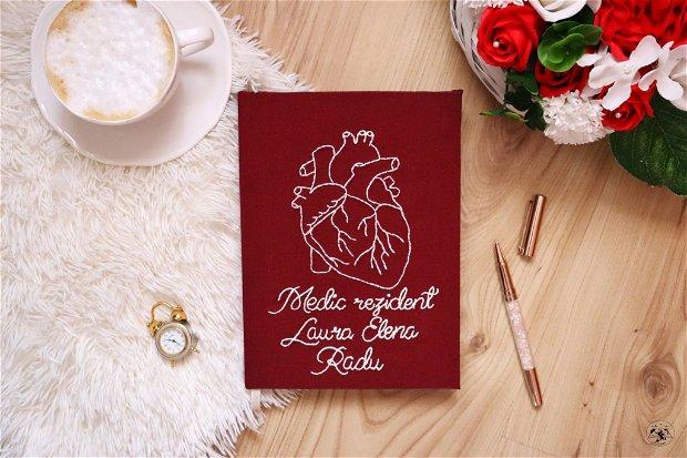 Agendă - Jurnal personalizat inimă anatomică