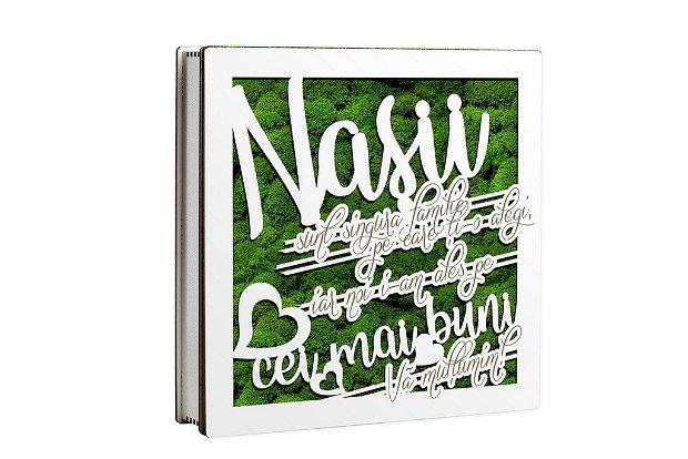 Caseta decorativa cu licheni, Nasi, DekoLaser, CDL1110L