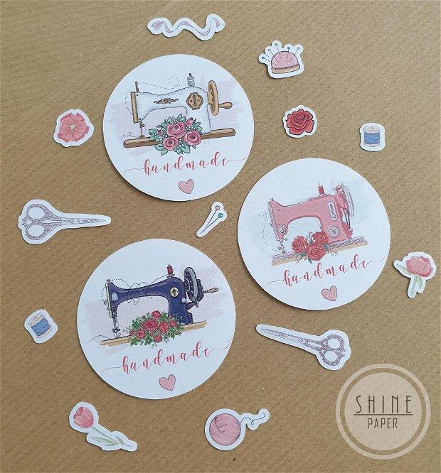 Stickere Handmade with Love pentru produse cusute