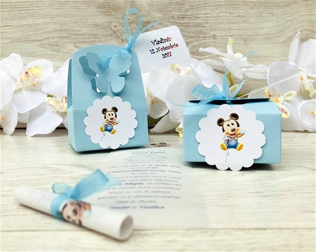 Invitatie vesela cu Mickey Mouse