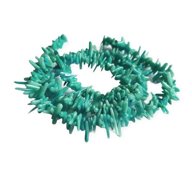 (15buc) Coral tepi chips albastru deschis 5-10mm  GSLAK 076A