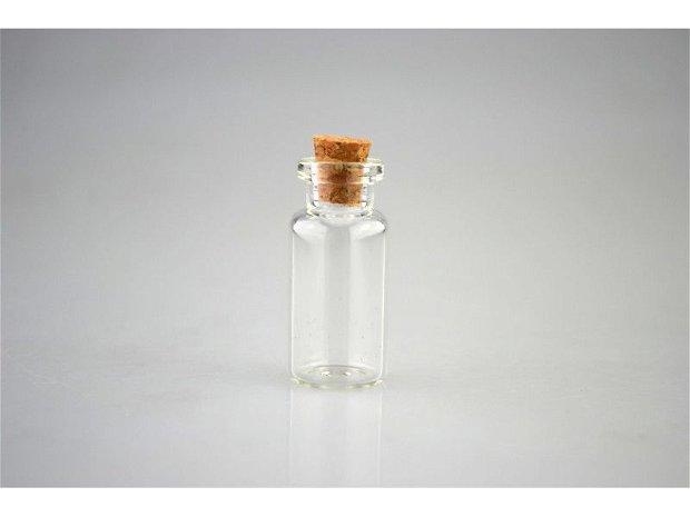 Sticluta fina cu dop de pluta- 3.5 cm x 1.6 cm- 0041