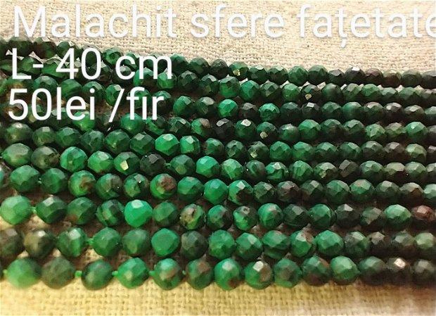 Malachit natural , 1 fir, 39 buc