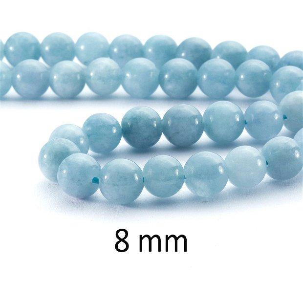 Acvamarin Quartz, 8 mm, ACV-04