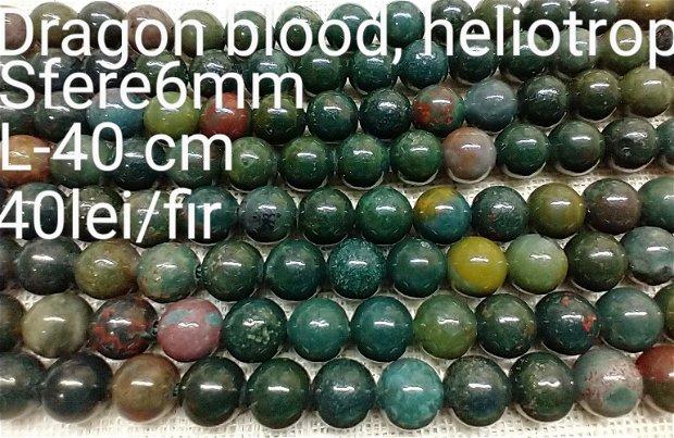 Dragon blood, Heliotrop natural, 1fir,40 cm,