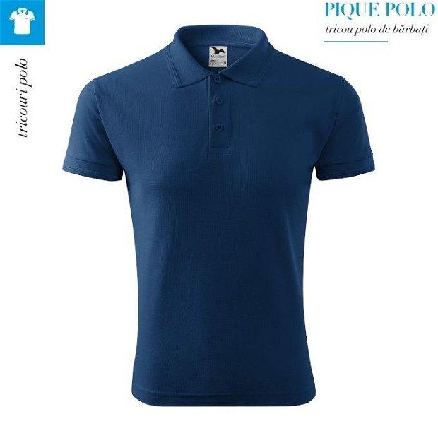 Tricou midnight blue polo barbati, Pique Polo