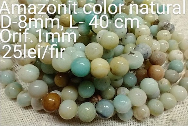 Amazonit color natural, 1fir,40 cm,