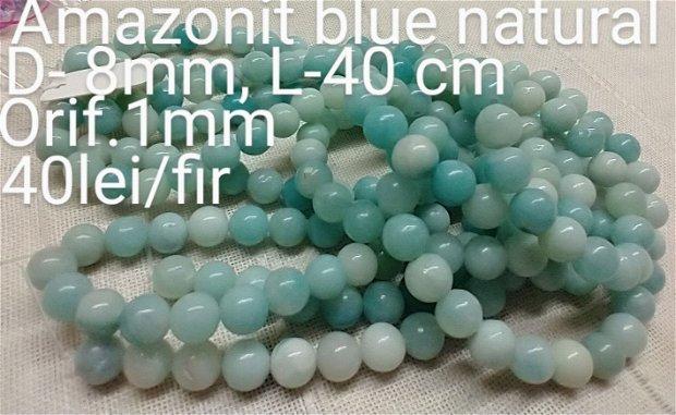 Amazonit blue natural, 1fir,40 cm,