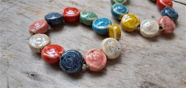 Bratara margele ceramice, 16 mm