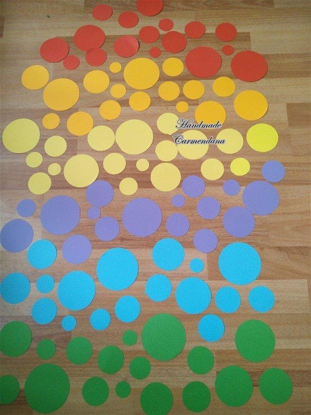 Cercuri colorate pentru decor