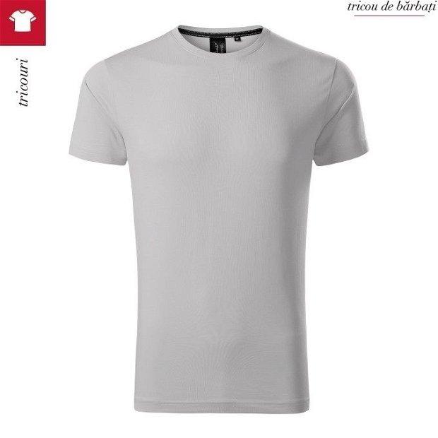 Tricou silver gray barbati, 100 % bumbac SUPIMA, EXCLUSIVE