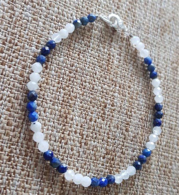Bratara piatra lunii si lapis lazuli