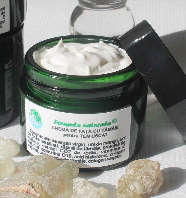 Crema antirid intens hidratanta, reparatoare, iluminatoare- cu ulei de argan, unt de mango si unt de shea-pentru ten uscat