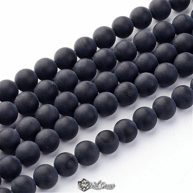 10 buc.Agate sfere negre mate 4 mm SP305