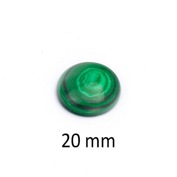 Cabochon malachit sintetic, 20 mm, A312
