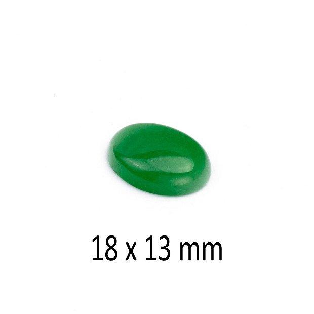 Cabochon Jad Malaezia, 18 x 13 mm, A313