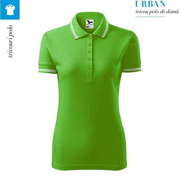 Tricou verde mar polo dama, Urban