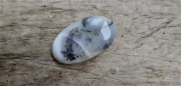 Cabochon opal dendritic, 32x20 mm