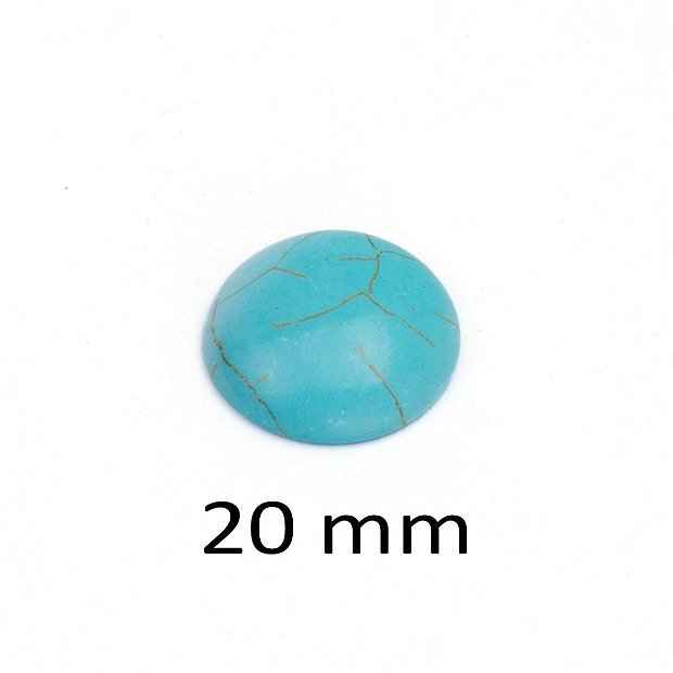 Cabochon Turcoaz sintetic, 20 mm, A321