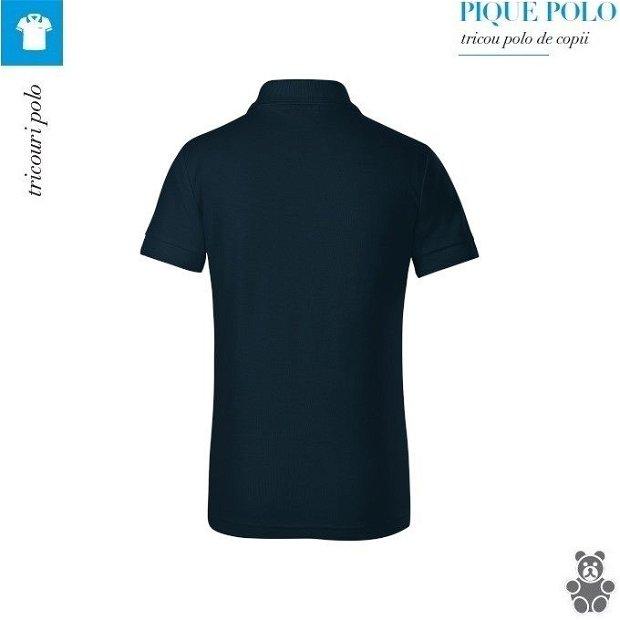 Tricou bleumarin polo copii, Pique Polo