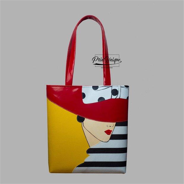 "Geanta shopper ""Chapeau Rouge"""
