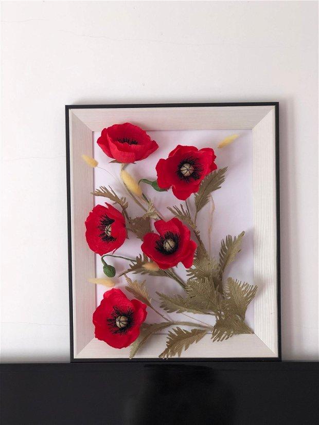 Tablou flori de hartie