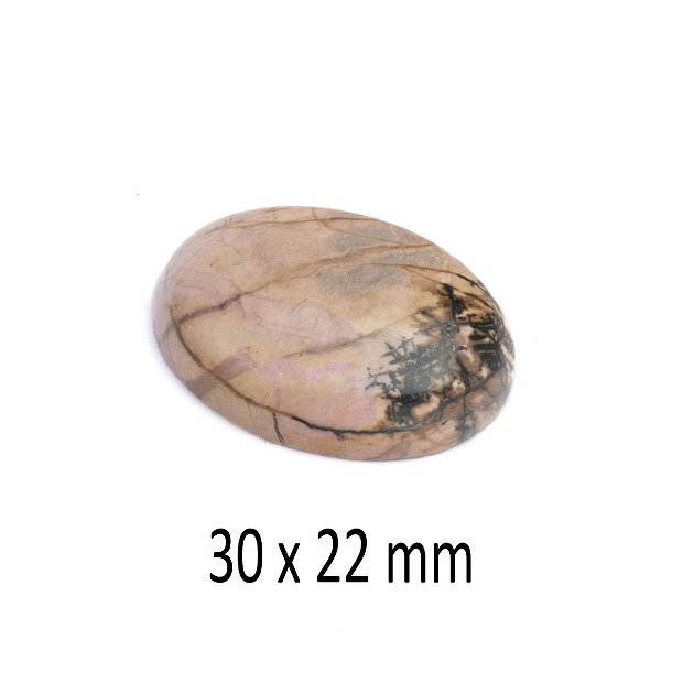 Cabochon Rodonit, 30 x 22 mm, A325