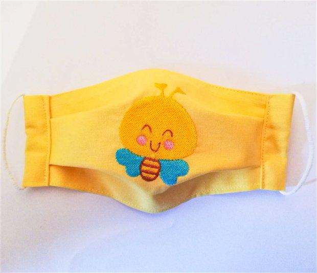 Masca bumbac pentru copii cu albinuta
